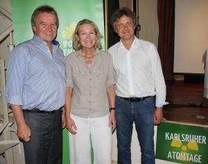 v.li.n.re.: Umweltminister Franz Untersteller, Sylvia Kotting-Uhl MdB, OB Frank Mentrup